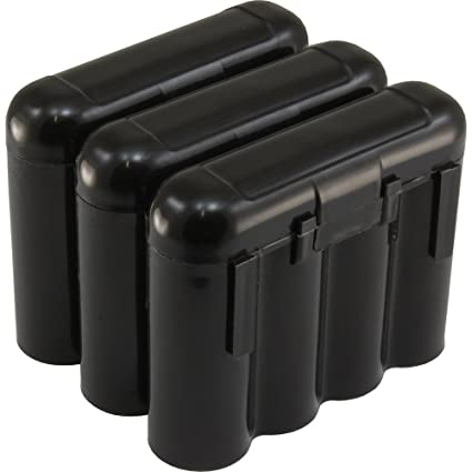 new product 33216 e9691 3 AA/AAA / CR123A Black Battery Holder Storage Cases
