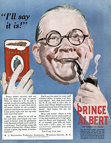 (Posterazzi Poster Print Collection Ad Namerican Advertisement for Prince Albert Tobacco 1919, (18 x 24), Multicolored)