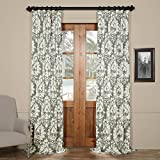 Cheap HPD HALF PRICE DRAPES PRTW-D46B-96 Lacuna Printed Cotton Twill Curtain,Grey,50 X 96