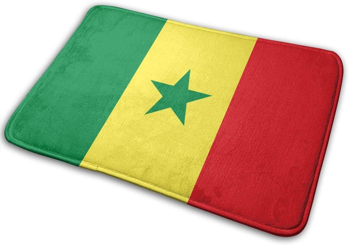 Flimy Na Bandera de Senegal Alfombrilla Antideslizante Casa Puerta de jardín Alfombra Alfombra Puerta Alfombrillas de Piso