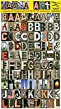 Language Art Magnetic Letters by Unique Alphabet Magnets for Kids & Adults. Educational. For Lockers, Refrigerators or any Metal Surface. 180 Images Depicting Letters in Color. Get Creative NOW!