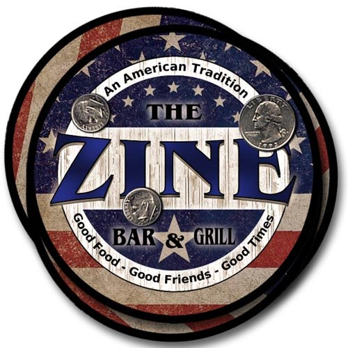 Zine Bar&Grill Family Name Neoprene Rubber Coasters - 4pcs -