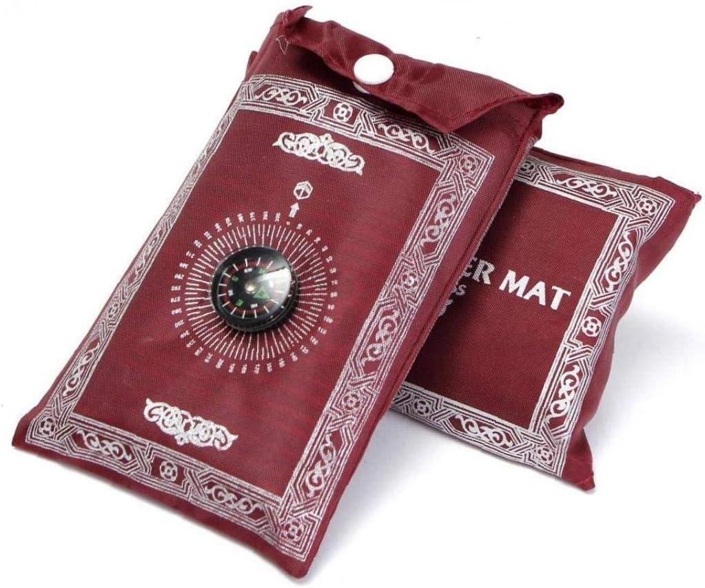 La Oraci/ón Port/átil Alfombra Rodillas Mat para Compass Musulmanes Islam Oraci/ón Impermeable Alfombra De La Estera