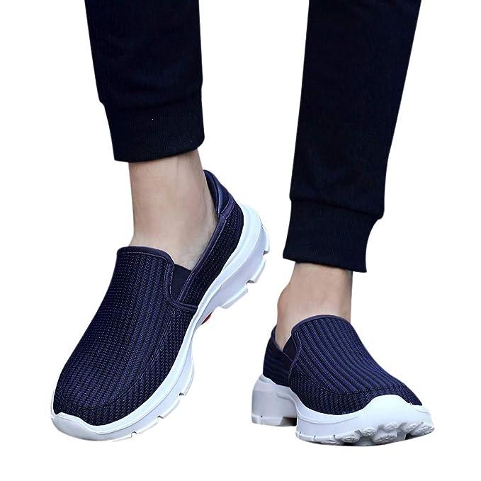 Btruely Zapatillas de Deporte Transpirables Antideslizantes para Hombre Zapatos de Ocio Zapatillas de Senderismo Deportivas Aire Libre Zapatos para Correr ...