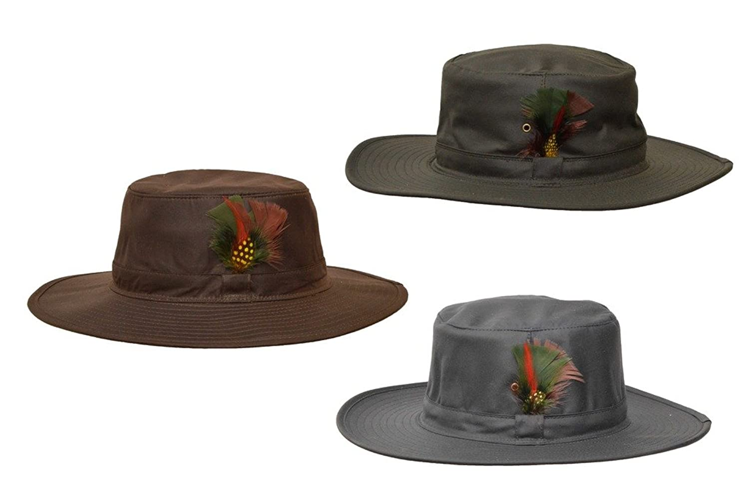1940s Men's Fashion Clothing Styles Walker and Hawkes Mens Wax Outback Aussie Wide Brim Hat  AT vintagedancer.com