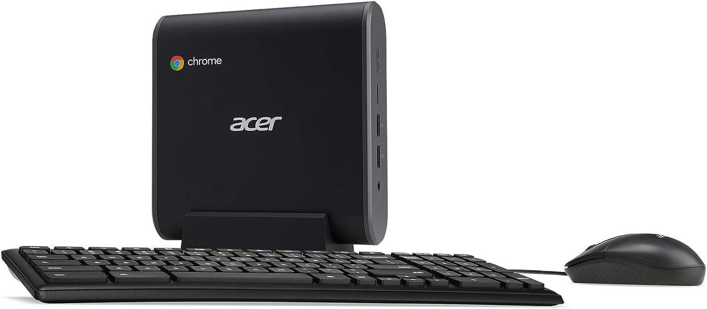 Acer Chromebox CXI3-UA91 Mini PC, Intel Celeron 3867U Processor 1.8GHz, 4GB DDR4 -Memory, 128GB M.2 SSD, 802.11ac Wi-Fi 5, USB Type-C, Chrome OS, Keyboard and -Mouse Included (Renewed)
