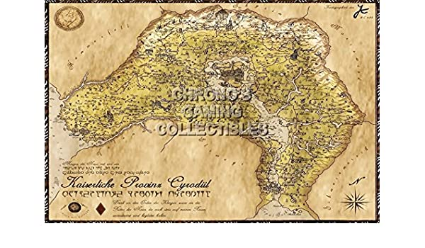 Oblivion Karte.Amazon Com Cgc Huge Poster Elder Scrolls Iv Oblivion Map Xbox 360