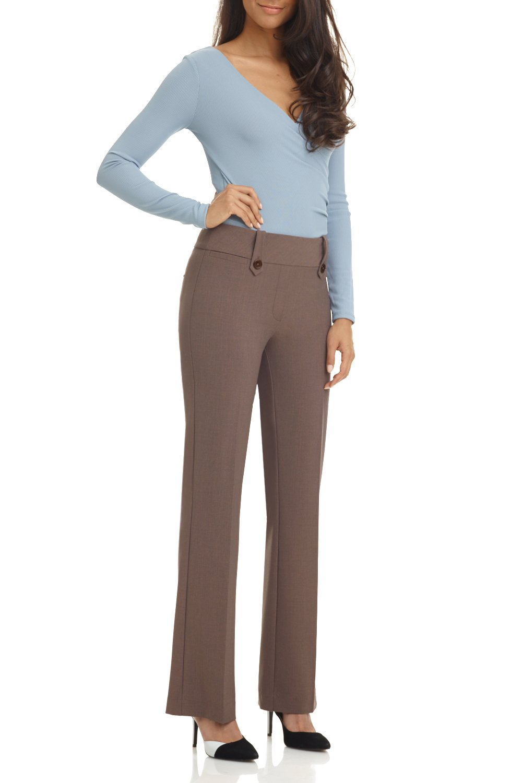 Rekucci Women's Smart Desk to Dinner Stretch Bootcut Pant w/Tummy Control (6,Mocha)