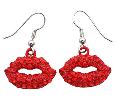 Amazon Com Soulbreezecollection Sexy Hot Pink Lips Dangle Earrings