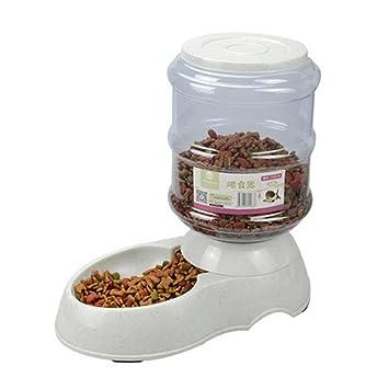 Dispensador de comida para gatos para perros de perro Waterer Dispensador automático para alimentadores Cuenco para bebes de plástico duradero 11L y 3.5L ...