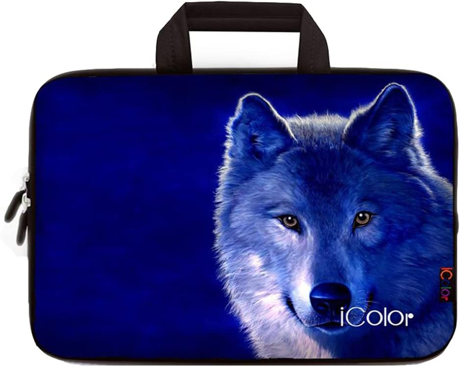 iColor Wolf 11.6 12 Inch Laptop Case Protective Sleeve Bag Briefcase with Handle (IHB12-013)