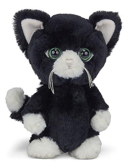 Amazon Com Bearington Big Head Tom Stuffed Animal Black And White