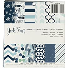 American Crafts Jack Frost Paper Pad, 6x6-Inch, 36-Pack