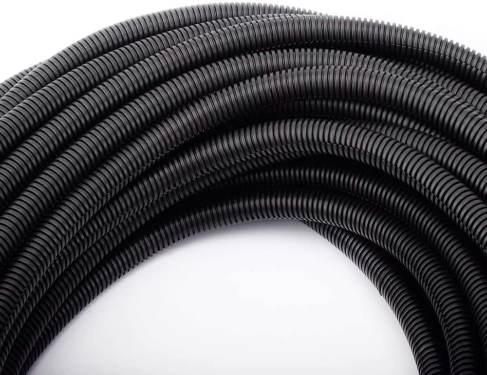 "50 FT 1/2"" Wire Loom Split Tubing Auto Wire Conduit Flexible Cover"