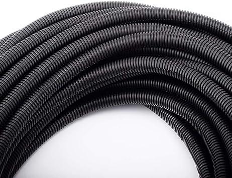 "3//4/"" x 50/' Wire loom split convoluted tubing conduit"