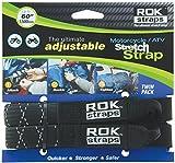 "ROK Straps ROK-10050 Black/Reflective 18"" - 60"" Motorcycle/ATV Adjustable Stretch Strap"