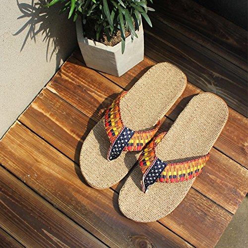 Zapatillas 40 Antideslizante Madera Inferior Suelo Chanclas Indoor 36 Femenina 39 Zapatillas de Cool Cool 35 Lino Grueso Donyyyy Verano con wxTPzR6Xq