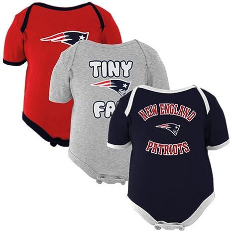 3a11c0a3f Outerstuff New England Patriots Baby Tiny Fan 3-pk Bodysuit Set (0-3