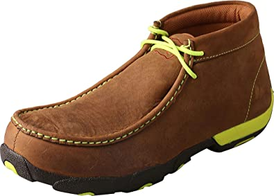 Twisted X Mens Driving Moccasins Steel Toe Shoe