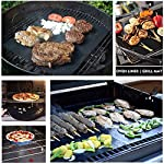 """CHERAINTI Grill Mat Oven Liner 70""""x16"""" Non-Stick Reusable Barbecue BBQ Mat, Cut to Any Size, for Gas Grill, Charcoal, Electric Grill, Electric Oven, FDA Approved, Heat Resistant 13 SMOOTH 100% NON-STICK, EASY TO CLEAN: Thanks to the non-stick teflon material. You can simply rinse with warm water to rid all leftover foods, spills or dried on liquids. You can wipe over with a damp cloth and lay flat on the top rack of your dishwasher for easy cleaning. You will be happy to know that your grill mat 