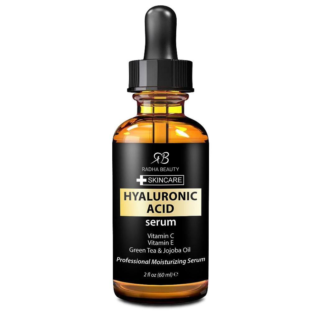 Radha Beauty Serum for Youthful Skin and Face, 2 fl. oz (Hyaluronic Acid)