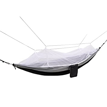 north west survival 2pn hammock black 2 person parachute camping hammock with adjustable mosquito   amazon     north west survival 2pn hammock black 2 person      rh   amazon