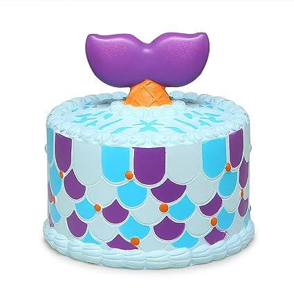 Amazon SQHOHO Cute Squishy Unicorn Mermaid Whale Cake Squishies