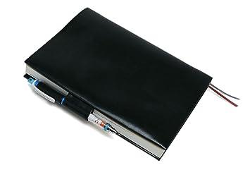 7f8d3b2b1bad お手入れいらずのほぼ日手帳カズン対応 A5サイズ リサイクルレザー カバー(ペンホルダー