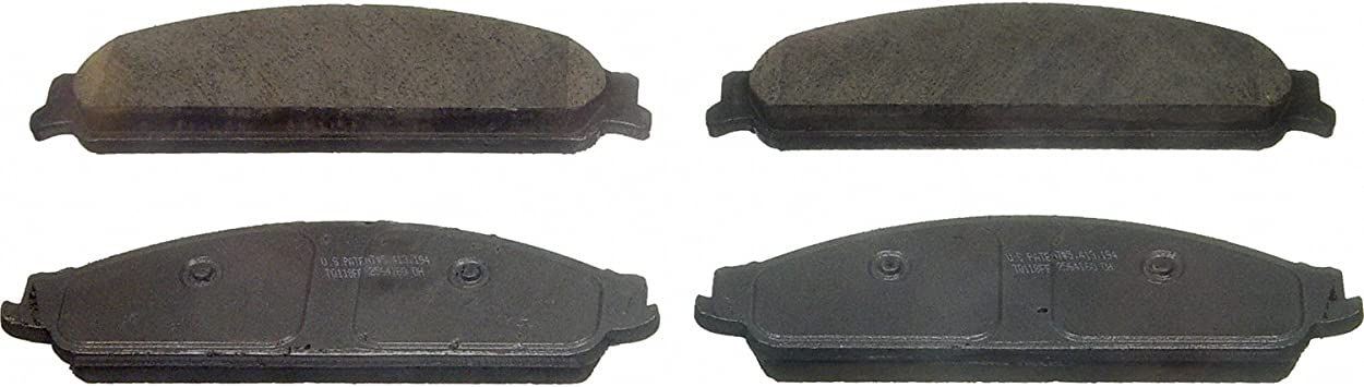 Rear Wagner ThermoQuiet PD1071 Ceramic Disc Pad Set With Installation Hardware