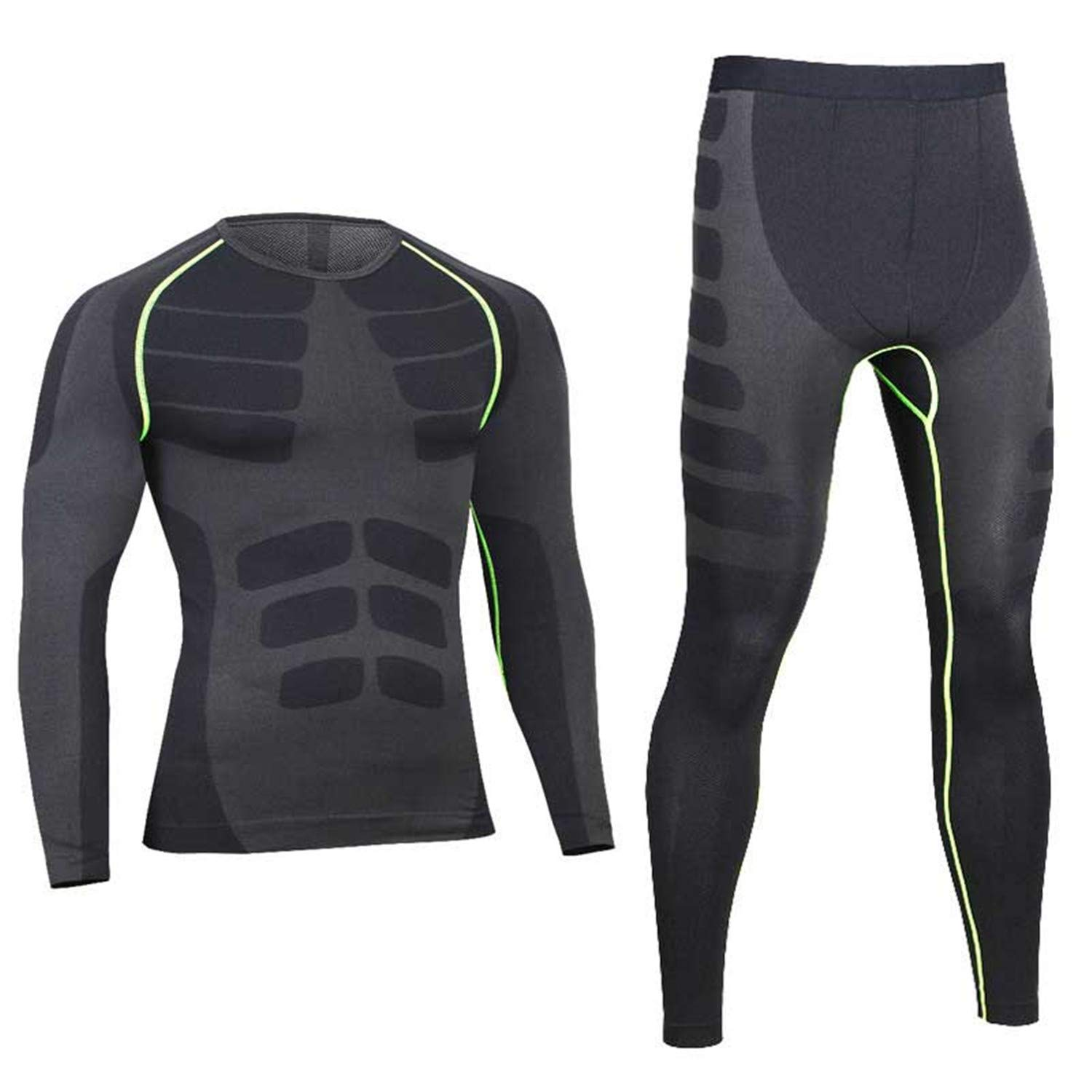 Esthesis Long Johns Winter Thermal Underwear Sets Men Brand Quick Dry Compression Stretch Men's Thermo Underwear Top& Bottom