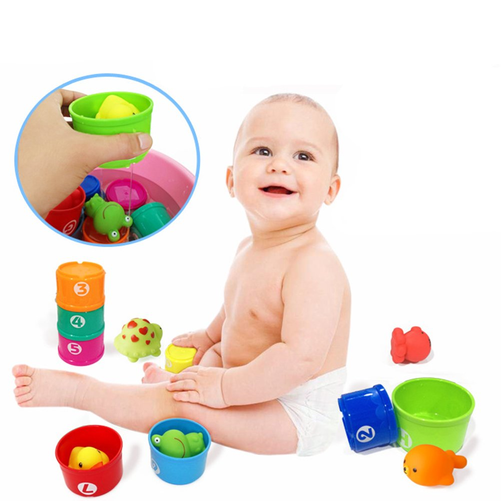 6PCS STACKING CUPS Kids Children Baby Educational Colourful Toys