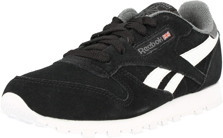 Legado pakistaní Superior  Amazon.com | Reebok Classic Leather Black/True Grey Suede Junior Trainers  Shoes | Shoes