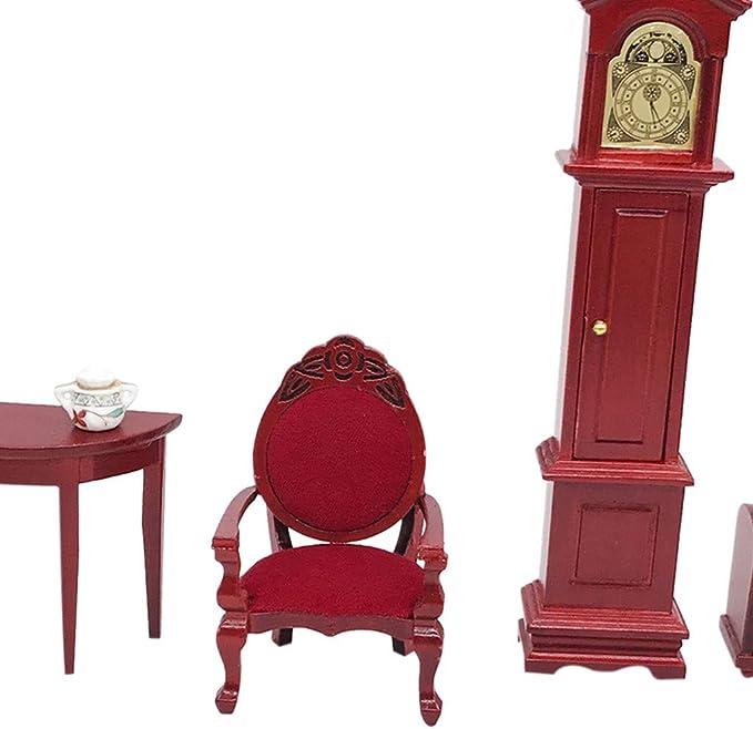 1//48 MINIATURE VINTAGE OFFICE//DININGROOM SET DESK CHAIRS TABLE MORE DOLLHOUSE