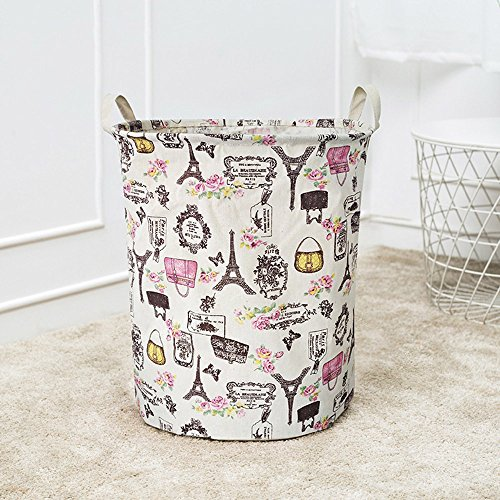 Hot Tuscom Geometric Cartoon Ethnic Style Pattern Durable and Waterproof Folding Fabric Laundry Basket,for Dirty Clothes Storage Basket,44x35cm/42L(6 Colors) (A) -