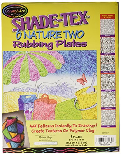 Melissa & Doug Scratch Art Shade-Tex Rubbing Plates - Nature 2-Pack, Patterns and (Crayon Rubbings)