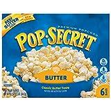 Pop Secret Popcorn, Butter, 6-Count Boxes (Pack of 6)
