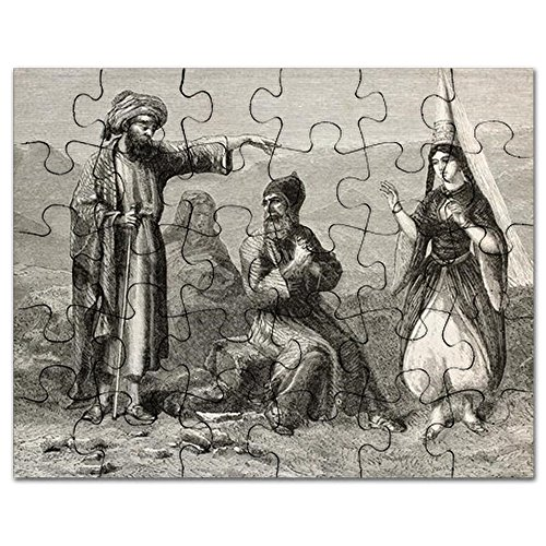 CafePress - Maronite Costumes Old Illustration. By Unid - Jigsaw Puzzle, 30 (Old Antique Etching)