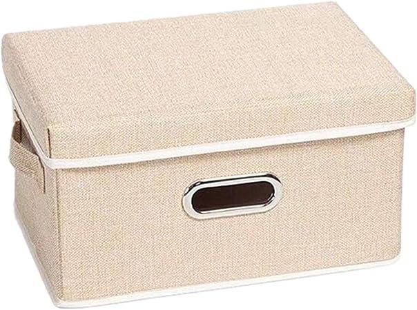 chunnron Caja Juguetes almacenaje Caja almacenaje Los niños Cajas de Almacenamiento De la Caja de Almacenamiento Cubo de Almacenamiento de Cajas Beige,s: Amazon.es: Hogar