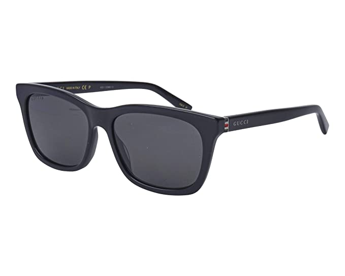 17652a0f7e Image Unavailable. Image not available for. Colour  Gucci GG0449S 002 Black  GG0449S Rectangle Sunglasses Polarised ...