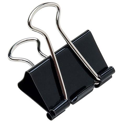 Amazon.com: Papel Binder Clips Varios Tamaños pinzas negro ...