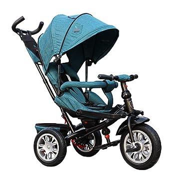 Cochecito de bebé 3 en 1 Triciclo Bicicleta Marco de Acero al Carbono Niños con Embrague y arnés de Seguridad Carro de niños para 1 a 5 años: Amazon.es: ...