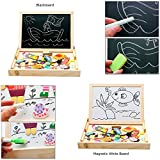 Babyhugs Kids Wooden Toy Magnetic Double Sided Drawing Whiteboard Blackboard Art Easel - Colourful Zodiac Characters