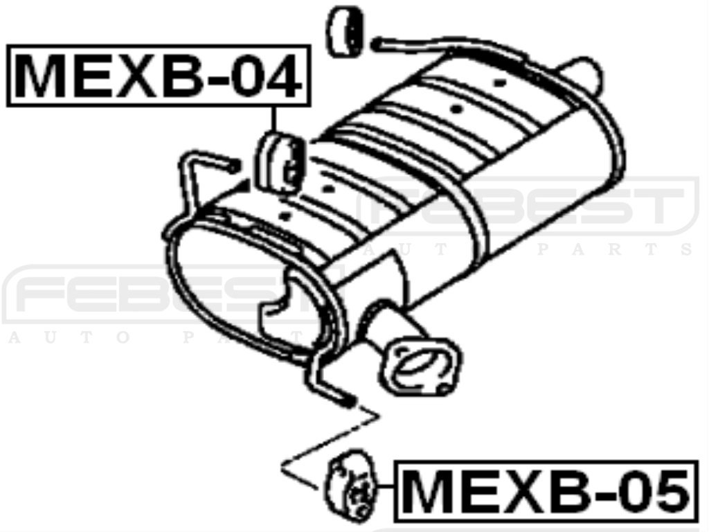 Mr281816 Exhaust Pipe Support For Mitsubishi Febest