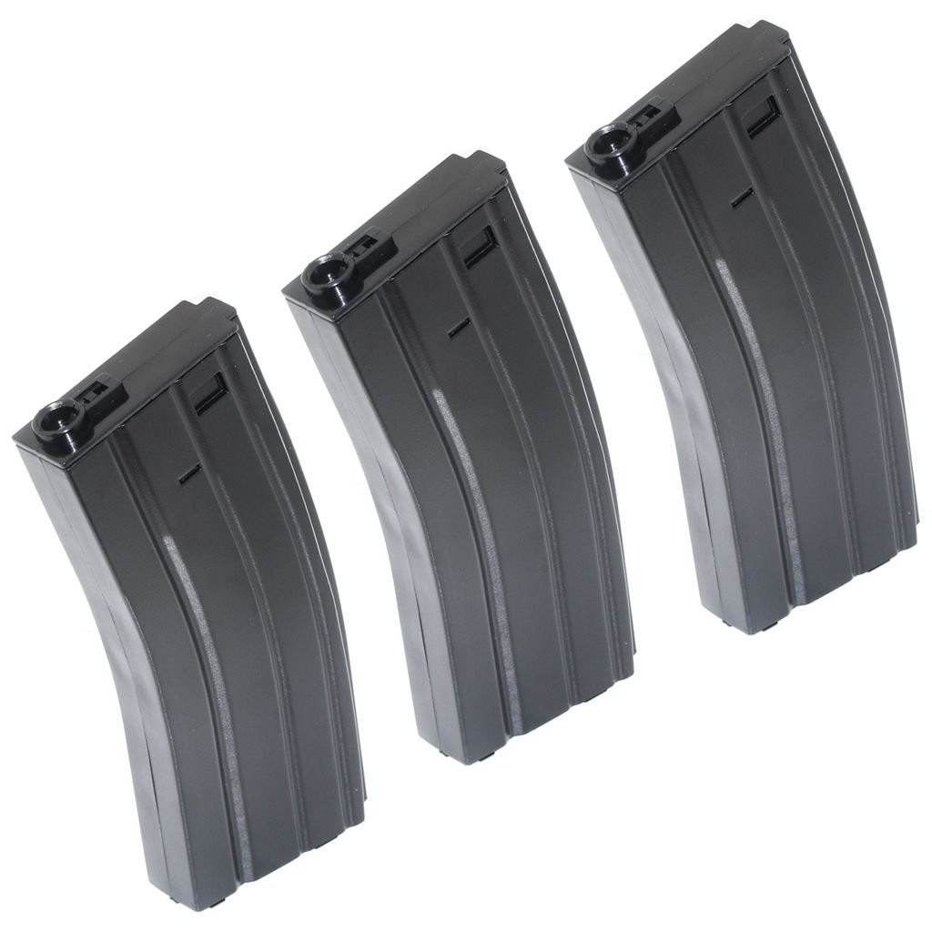 Airsoft Gear Parts Accessories 3pcs 140rd Mid-Cap Mag Plastic Magazine for M4/M16 Series AEG Black Airsoft Website