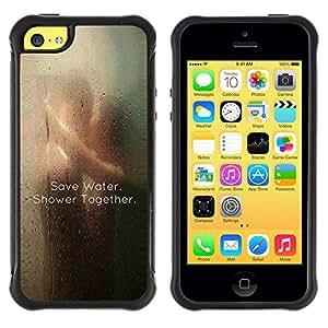 Suave TPU Caso Carcasa de Caucho Funda para Apple Iphone 5C / love save water cute clever shower sexy / STRONG