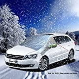 Super PDR® Auto Car Windproof windshield Sun/Snow covers frost guard windshield cover Anti UV Dust Sun Shade Universal Fit for Any Hatchback - Protects Mirrors,1.55X1.9X2.4m(Large)