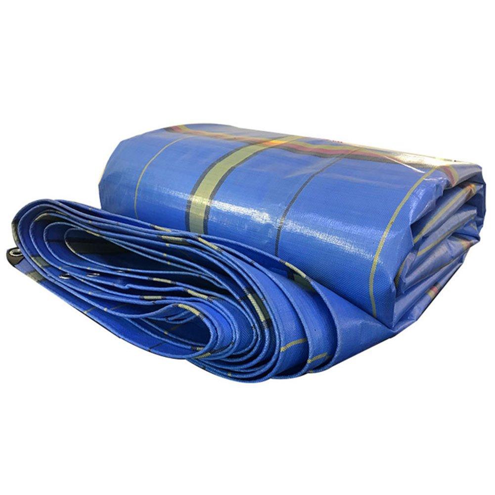 KKCF オーニング 防水 日焼け止め 防塵の ひび割れ防止 耐寒性 屋外 カーポート ポリエチレン 、420g / M2 、12サイズ (色 : Blue stripes, サイズ さいず : 2.7X 2.85m) B07FYL5V4D 2.7X 2.85m Blue stripes Blue stripes 2.7X 2.85m