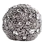 Snowskite romantic shiny luxury covered diamond wedding bouquet brooches flower pearl custom bride holding bouquets(grey)