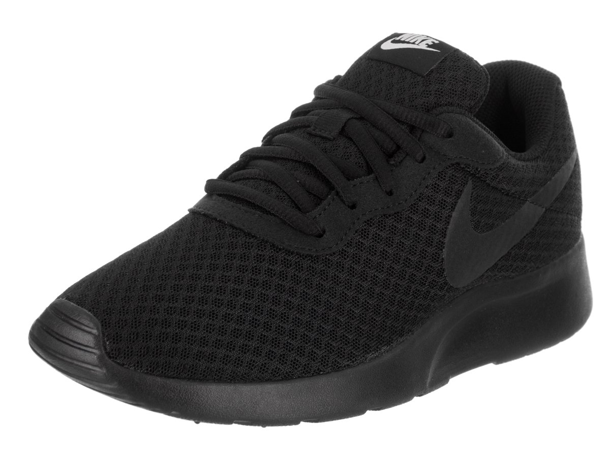 NIKE Women's Tanjun Black/Black/White Running Shoe 8 Women US