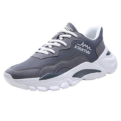 Realike - Zapatillas de running para hombre, ultraligeras, transpirables, antideslizantes, para hombre, color blanco, negro, gris, (EU)39, gris, 1: Amazon.es: Industria, empresas y ciencia